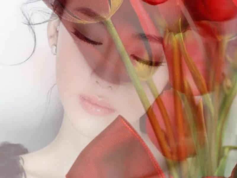 A une fleur poésie Femme-endormie